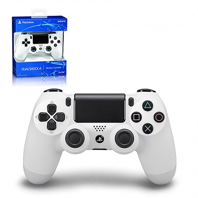 Sony - New DualShock 4 Wireless Controller for PS4  - Glacier White