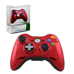 Microsoft - Limited Edition Chrome Series Wireless Controller for Xbox 360 - Red