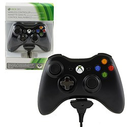 Microsoft - Play & Charge Kit Wireless Controller for Xbox 360