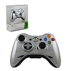 Microsoft - Limited Edition Chrome Series Wireless Controller for Xbox 360 - Silver