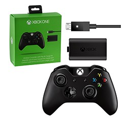 Microsoft - Wireless Controller with Play and Charge Kit for Xbox One