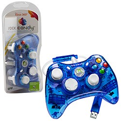PDP - Rock Candy Controller for Xbox 360 - Blue