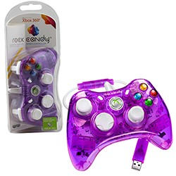 PDP -  Rock Candy Controller for Xbox 360 - Purple