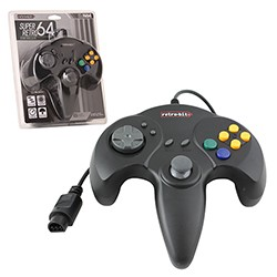 Retro-Bit -  Retro64 Wired Controller for N64 - Solid Black