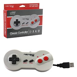 Retro-Link - NES Dogbone Shape Controller USB Wired for PC and Mac