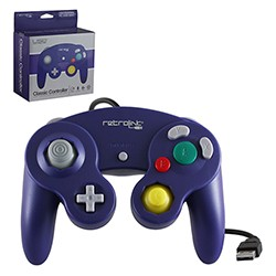 Retro-Link - Gamecube Style Wired USB Controller for PC & Mac - Purple