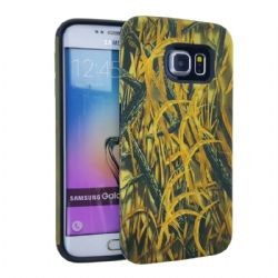 """MYVI Series Slim Hybrid Protector Case for Samsung Galaxy S6 Edge Plus ( Hunter with New Shedder Grass Snap & Black Ski"
