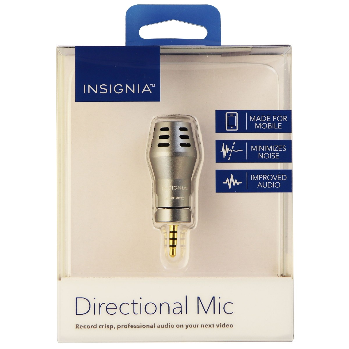 Insignia - Directional Microphone for Smartphones and tablets - Gray