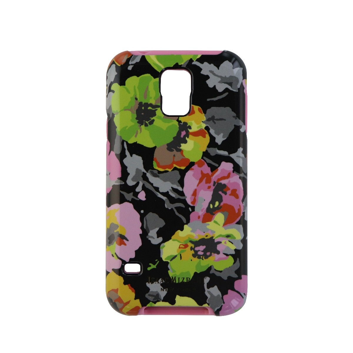 Isaac Mizrahi New York Series Protective Case Cover for Galaxy S5 - Black Flower