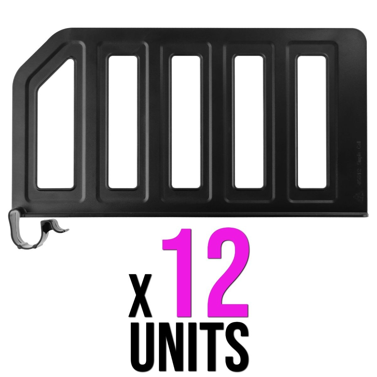 "12 PACK - Simple Cell Shelf / Closet Separator w/ Snap on Clip 12"" x 6"""