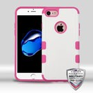 MYBAT Natural Cream White/Hot Pink TUFF Merge Hybrid Protector Cover (IPHONE7HPCTUFFMERSO005WP)