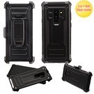 Black/Black Advanced Armor Protector Cover (with Black Holster)(NSAMS9PLUSHPCSAASCMB261NP)