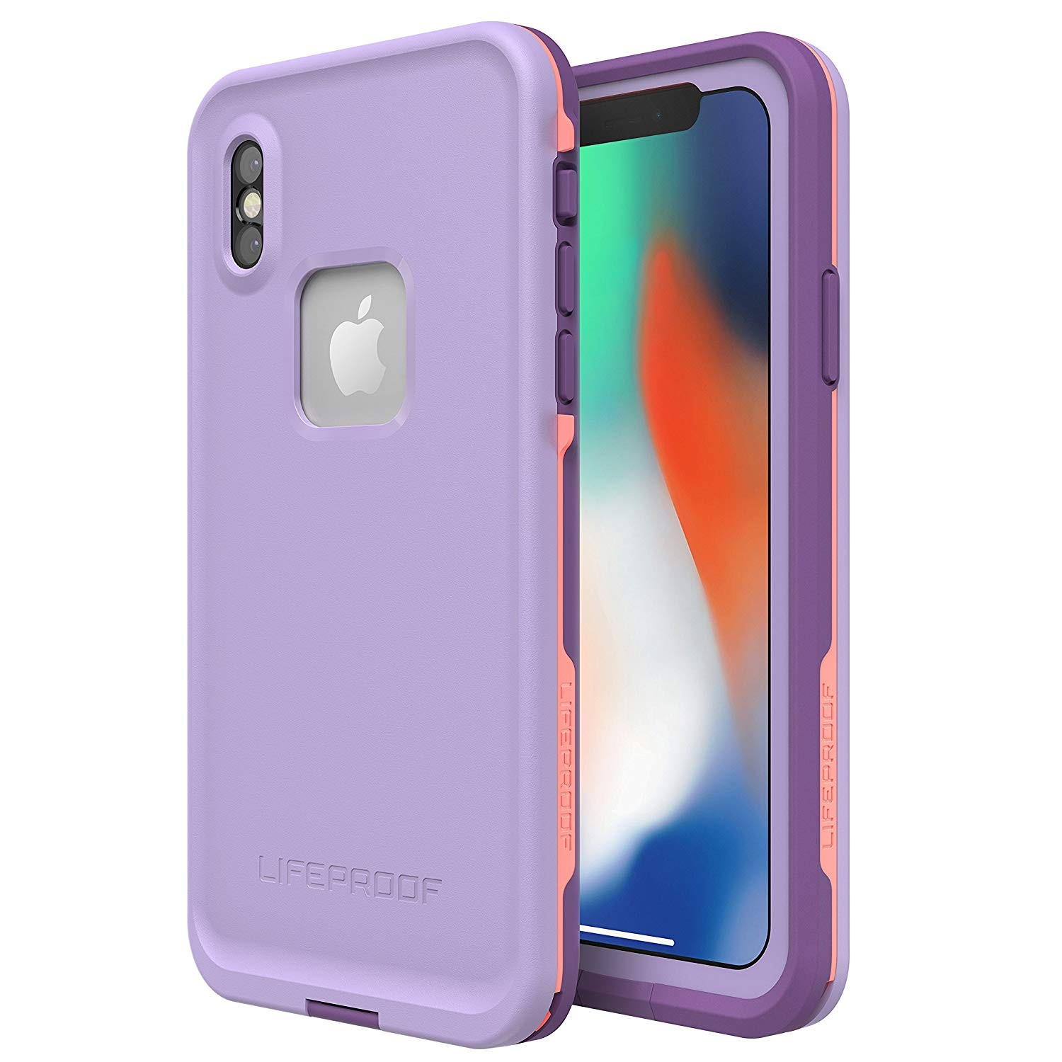 Lifeproof FR? SERIES Waterproof Case for iPhone X (ONLY) - CHAKRA (ROSE/FUSION CORAL/ROYAL LILAC)