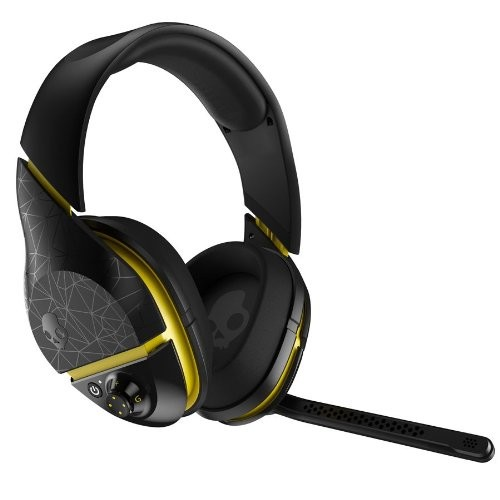 Skullcandy PLYR2 Surround Sound Wireless Gaming Headset, Black/Yellow (SMPLFY-207)