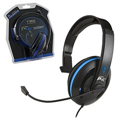 Turtle Beach - Ear Force P4C Chat Communicator Wired Headset for PS4