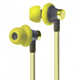 AIRCOM A3 HANDSFREE AIRFLOW MAGNETIC EARBUDS WITH IN LINE MIC AND 3.5MM JACK - YELLOW