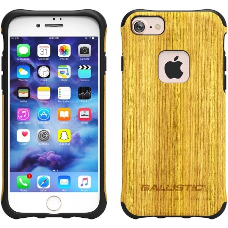 cheap for discount 029a6 49226 Ballistic Urbanite Select Case for iPhone 6/6s/7/8 - Honey Wood / Black