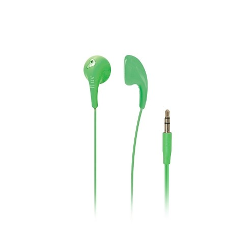 iLuv Bubble Gum II Earphone, Flexible, Jelly-Type Stereo Earphones (Green)