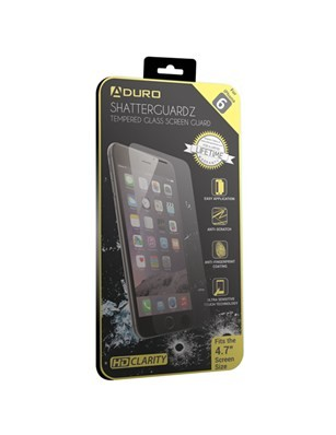 Aduro Shatterguardz Glass Screen Protector for Apple iPhone 6 - Clear