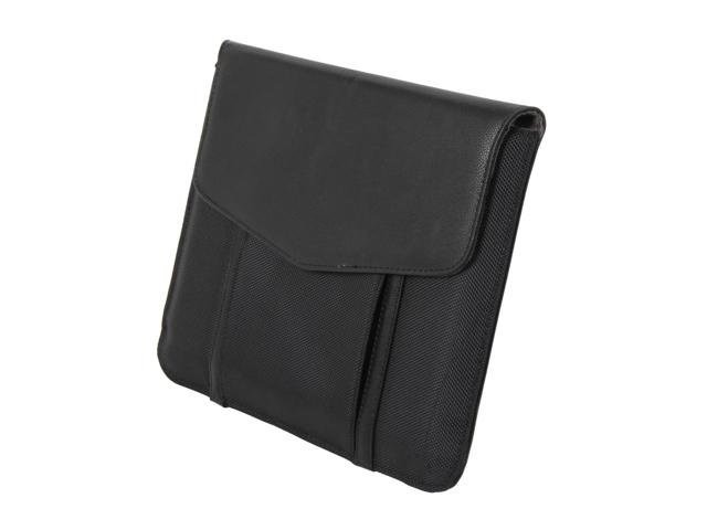 iPad 9.7 Leather Cover Sleeve with Pocket for Cables and Accessories - Magnet Closure - Elegant Black Color