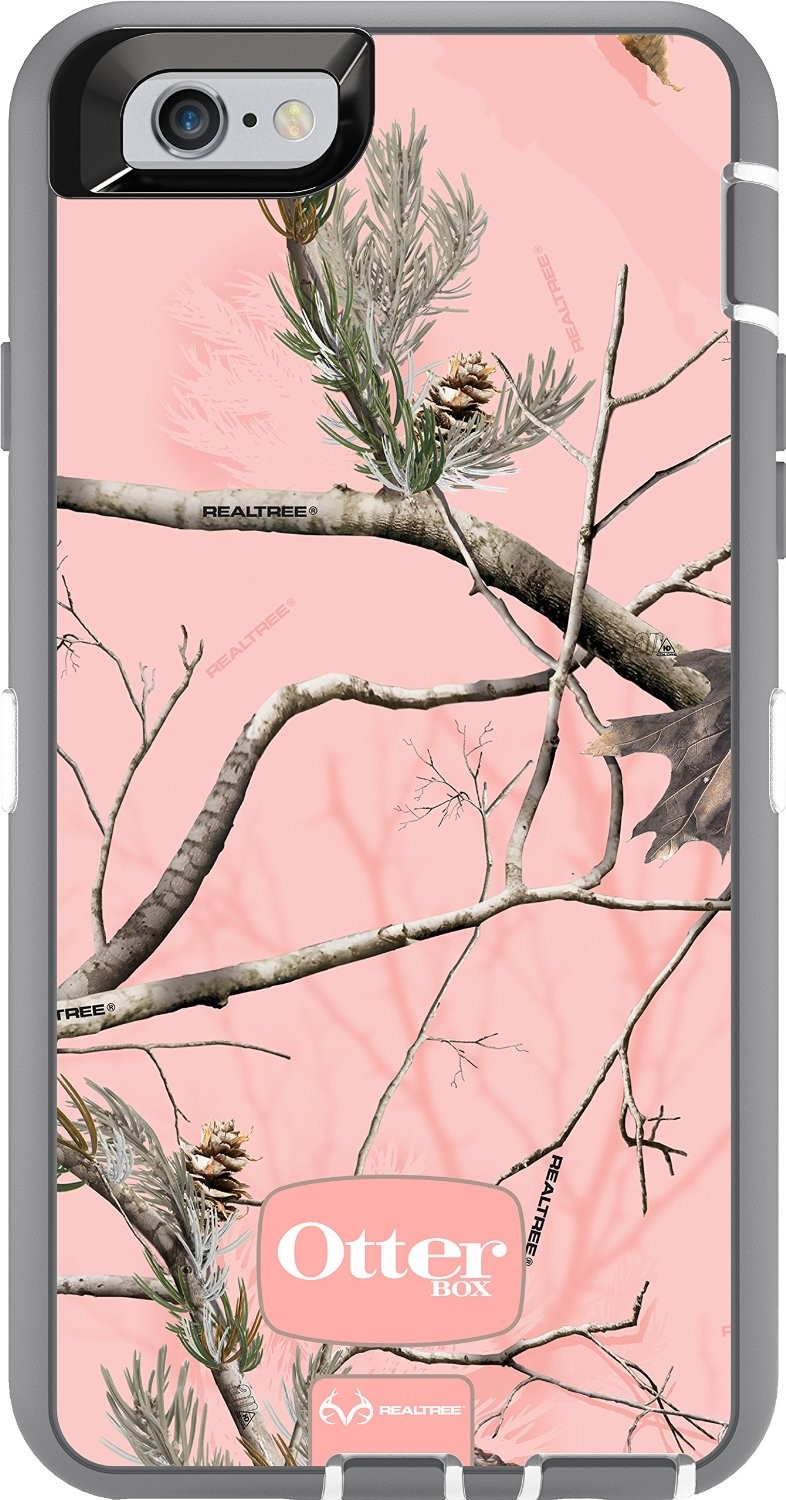OtterBox Defender Case for Apple iPhone 6 6s - Realtree AP Pink Camo  (White Gunmetal Grey Ap ... c39e4fe837d0