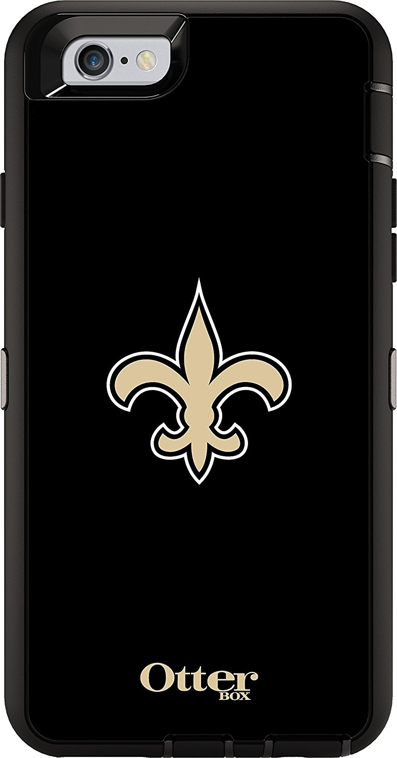 free shipping 45337 e88fc OtterBox Defender Case for Apple iPhone 6/6S - NFL New Orleans Saints