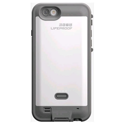 LifeProof Fre Waterproof Power Case for Apple Phone 6 - Avalanche (White/Gray)