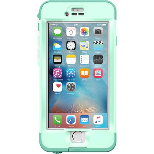 online retailer a5a64 b6092 LifeProof Nuud WaterProof Case for Apple iPhone 6s Plus - Undertow (Aqua  Sail Blue/Clear/Tail Side Teal)