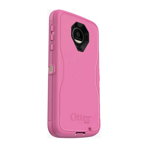 factory authentic b3306 29c70 OtterBox Defender Case for Motorola Moto Z Force Droid - Berries and Cream  (SAND/HIBISCUS PINK)
