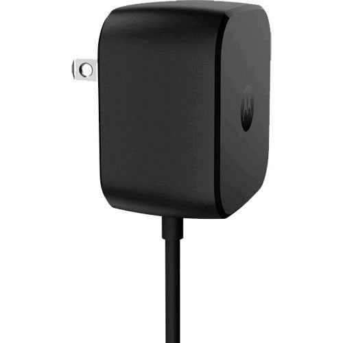 Motorola TurboPower 30W USB Type-C Wall Charger SPN5912A for Moto Z Droid and Moto Z Force Droid - Black