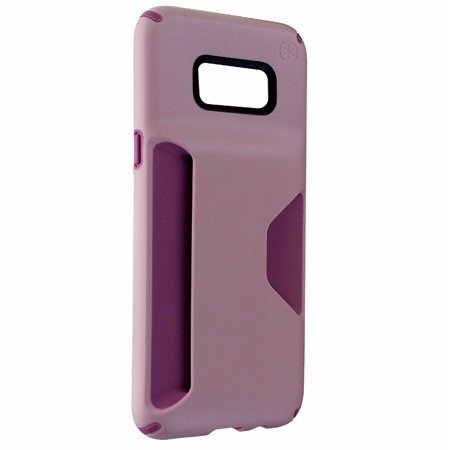 Speck Presidio Wallet Case for Samsung Galaxy S8+ - Clay Pink/Plumberry Purple