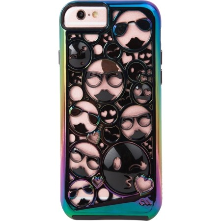 case mate tough layers emoji case for iphone 6 6s 7 8 iridescent black