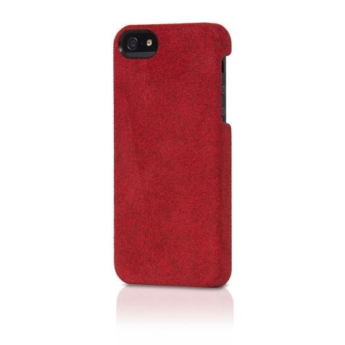 A di Alcantara Case for iPhone 5 - Red (Italian Design)