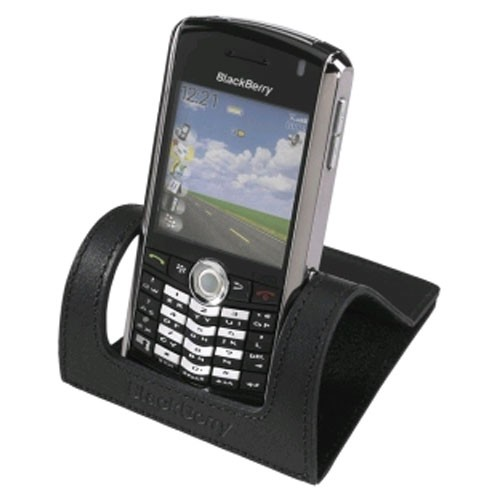 OEM BlackBerry Leather Desktop Stand for BlackBerry 8100, 8120, 8130 (Black) - HDW-11575-003-Z