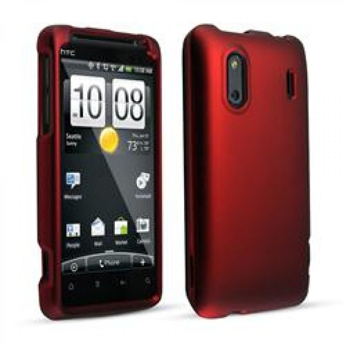 After Market Htc Evo Design 4g Red Soft Touch Snap On Cover Sprint Pkg