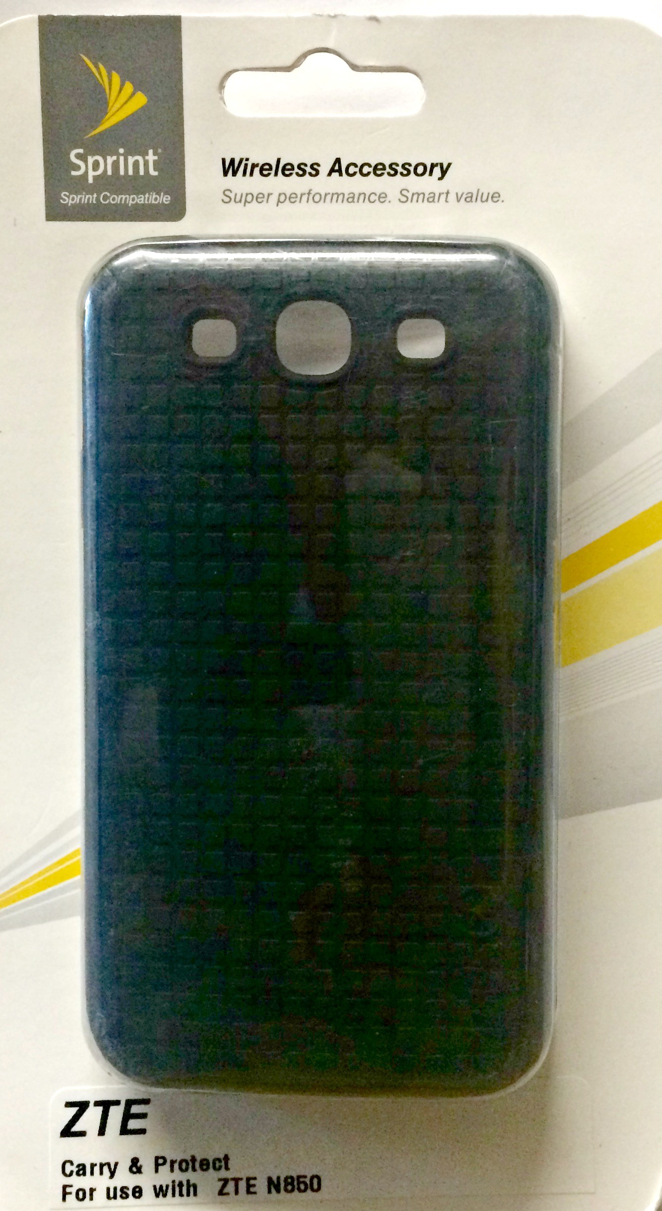 Silicone Phone Case For Sprint ZTE Fury N850 - Black