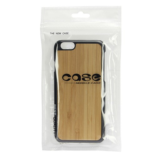 3D Knight Real Wood Protector Case for Apple iPhone 6 Plus (Bamboo Plus Black PC)