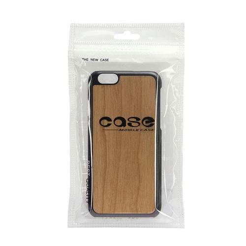 3D Knight Real Wood Protector Case for Apple iPhone 6 Plus (Cherry Wood and Black PC)