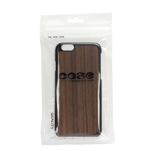3D Knight Real Wood Protector Case for Apple iPhone 6 Plus (Walnut Wood Plus Black PC)