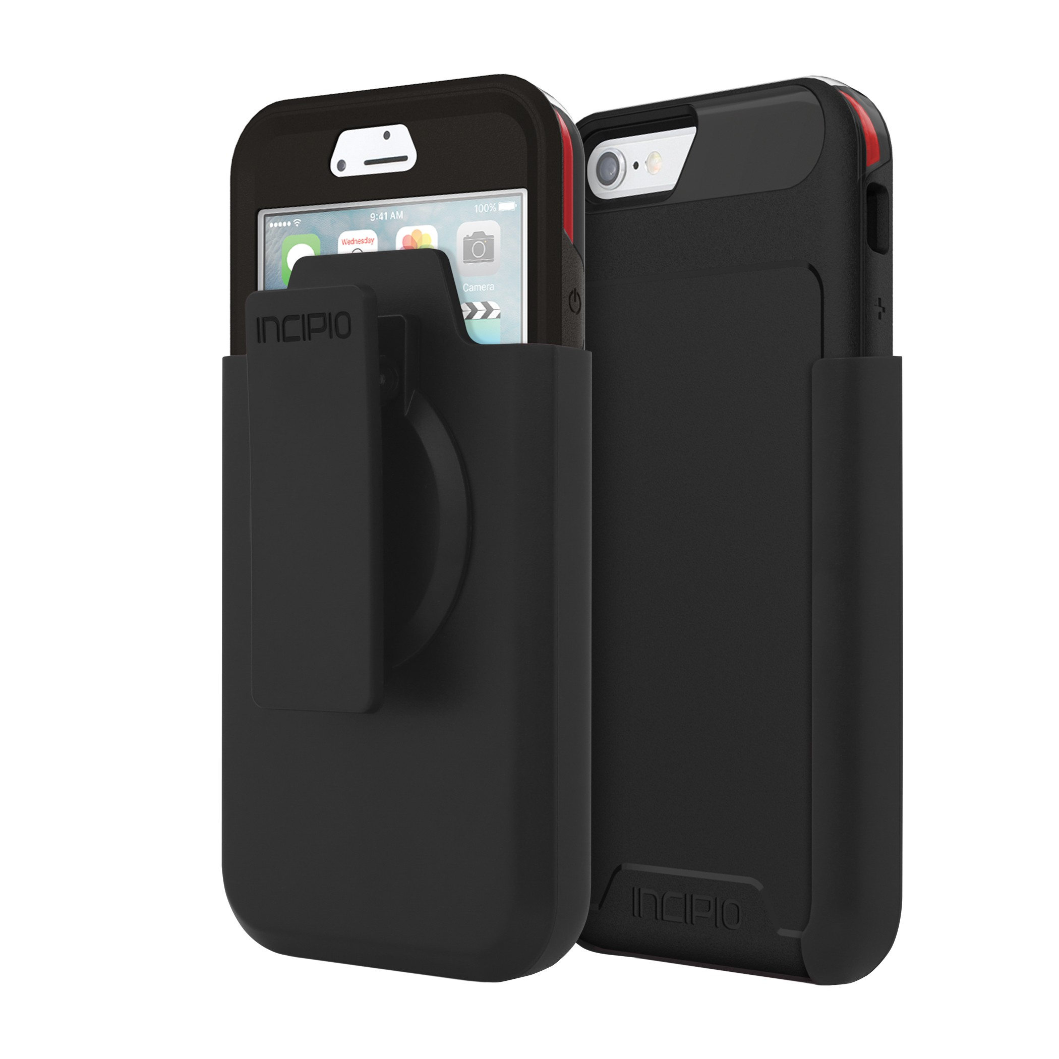 Incipio Performance Level 5 Case with Holster for iPhone 6/6S - Black/Red