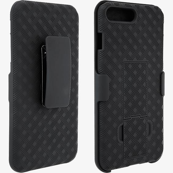 Unlimited Cellular Rubberized Kickstand Holster for iPhone 8, 7, 6s, 6 (Black)