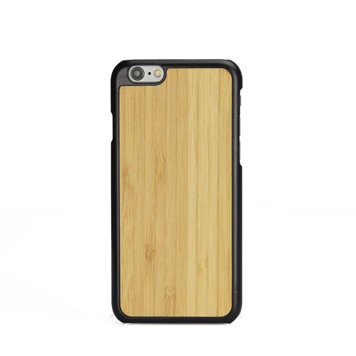 3D Knight Real Wood Protector Case for Apple iPhone 6 / 6S (Bamboo Plus Black PC)