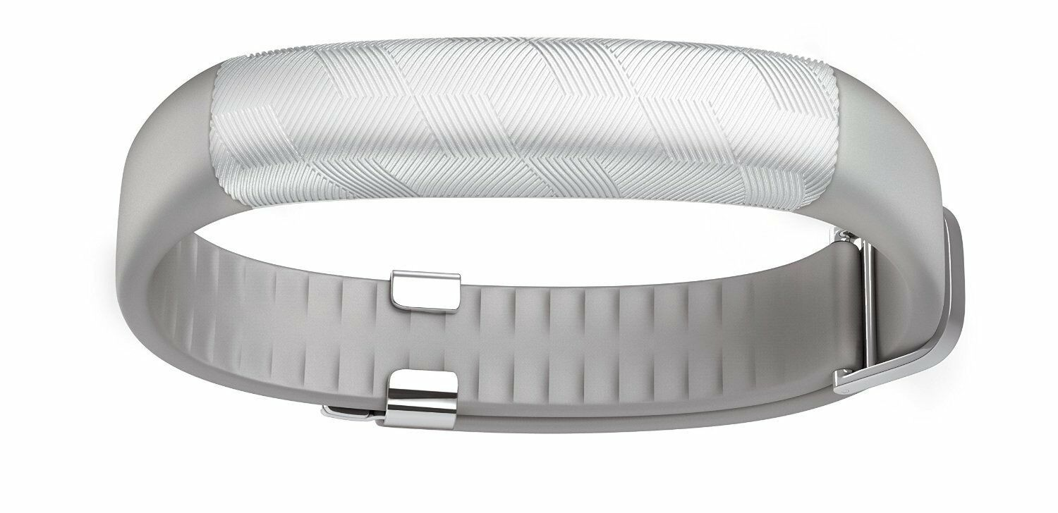 Jawbone UP2 Wireless Activity and Sleep Tracker, Classic Flat Strap - Silver