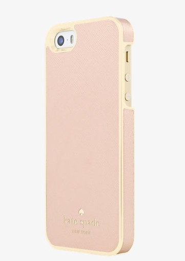 buy popular 8c654 4401e kate spade new york Wrap Case for iPhone 5/5s/SE - Saffiano Leather Rose  Gold