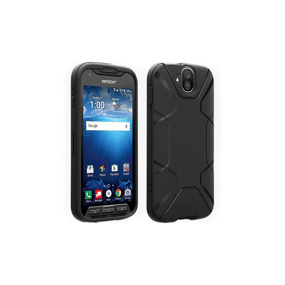 buy popular 90730 36941 Verizon Matte Silicone Case for Kyocera DuraForce PRO E6810 - Black