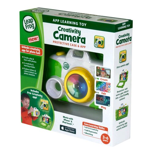 LeapFrog Creativity Camera App with Protective Case for Apple iPhone 4/4s/5 and iPod touch 4G - Green