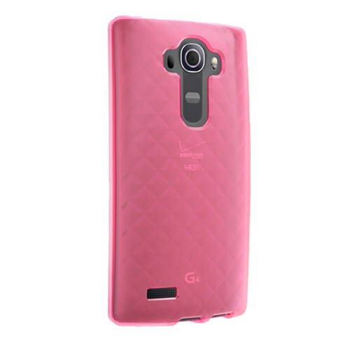Verizon High Gloss Silicone Case for LG G4 VS986 - Pink