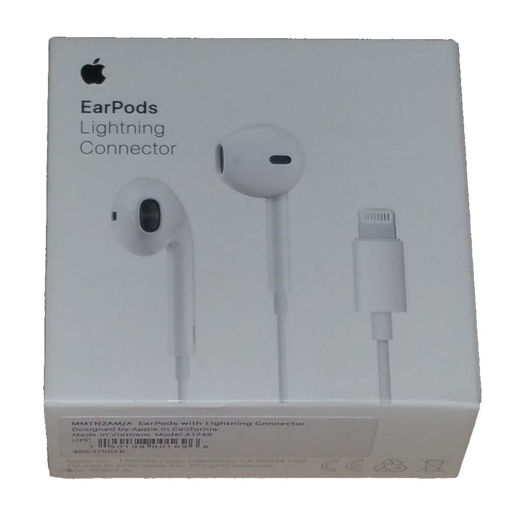 874ef26f8e7 Original Apple EarPods with Lightning Connector for iPhone 5,6,7 iPad Mini,  Pro - MMTN2AM/A