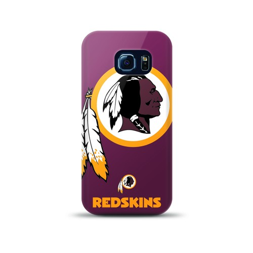 Mizco Sports NFL Oversized Snapback TPU Case for Samsung Galaxy S6 Edge (Washington Redskins)