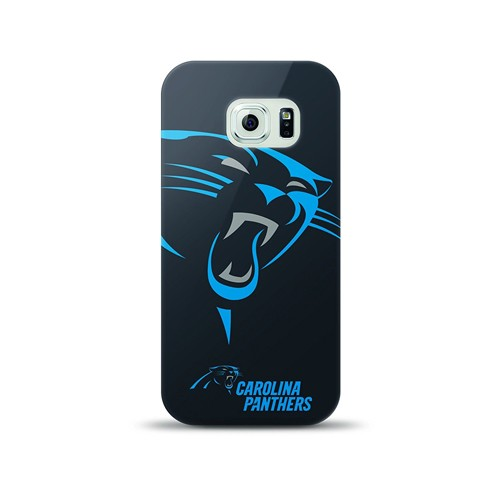Mizco Sports NFL Oversized Snapback TPU Case for Samsung Galaxy S6 (Carolina Panthers)